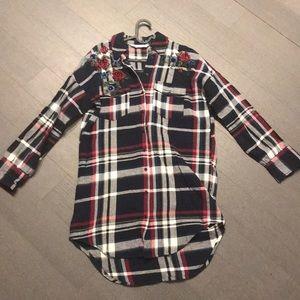 Zara Long Sleeve Shirt Dress (S)